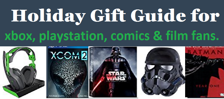 xbox playstation comics and movies gift guide